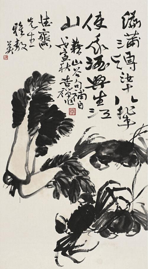 李苦禅先生的大闸蟹蟹画欣赏