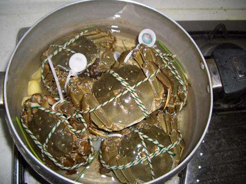 水煮大闸蟹