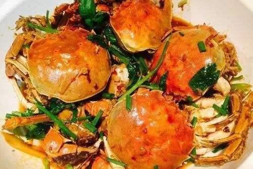 姜从炒大闸蟹